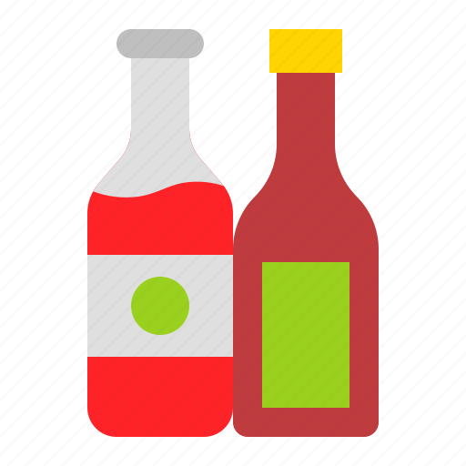bbq, bottle, condiment, ketchup, sauce icon