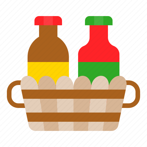 basket, bbq, bottle, condiment, condiment basket, sauce icon