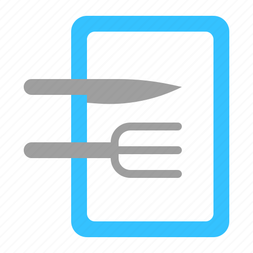 cutlery, fork, kitchenware, knife icon