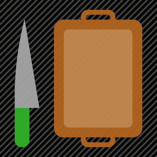 chopping board, cultery, cutting, knife icon