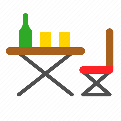 Chair, furniture, picnic, rest, table icon - Download on Iconfinder