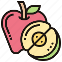 appetizing, apple, food, fresh, fruit icon