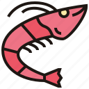 fresh, grilled, prawn, seafood, shrimp icon