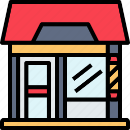 barbershop, salon, store icon