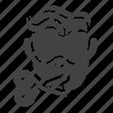 barber, beard, cut, hair, head, people, service icon