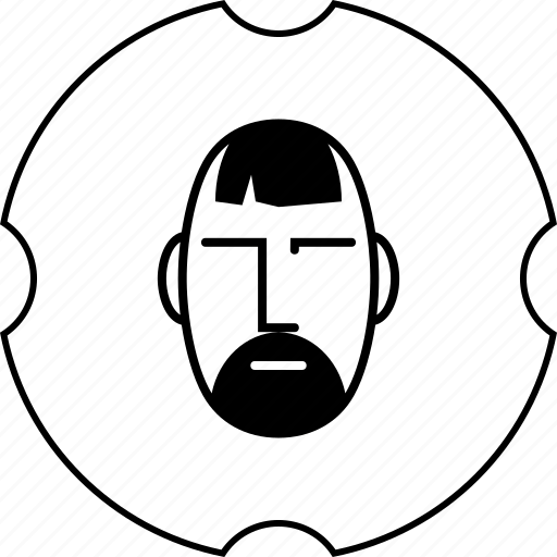 barber, beard, haircut, mustache, shop icon