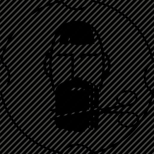 barber, beard, haircut, mustache, scissors, shop icon