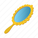 accessory, beauty, cartoon, glass, handle, makeup, mirror icon