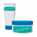 beauty, care, cartoon, container, cosmetic, cream, health icon