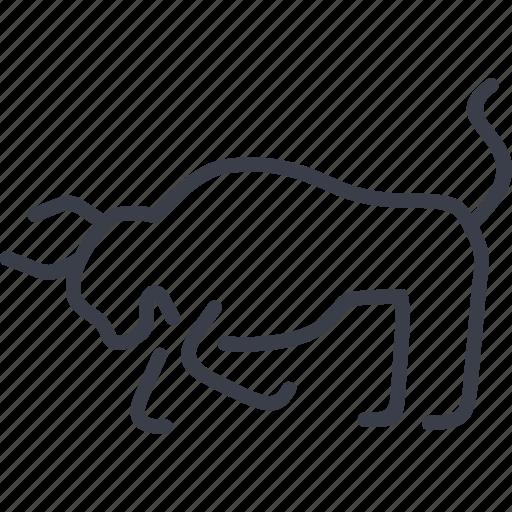 animal, barcelona, bull, head icon