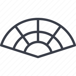 barcelona, fan, manual fan, ventilator icon