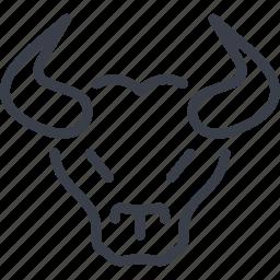 animal, barcelona, bull, bull head, horned animal icon