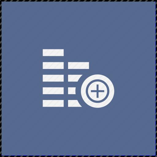 account, add, blue, cash, create, money, square icon