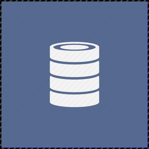 bank, blue, data, info, square, storage icon