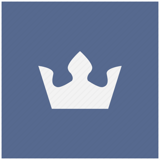 blue, crown, king, royal, square icon