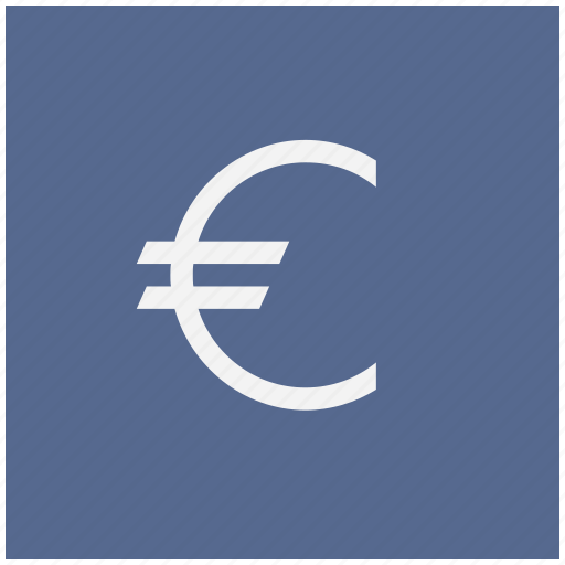blue, cash, euro, money, square icon