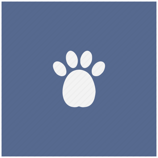 blue, dog, footstep, puppy, square icon