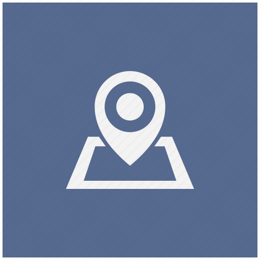blue, geo, map, navigation, pointer, square icon