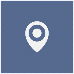 blue, geo, navigation, place, pointer, square icon