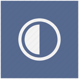 blue, chart, contrast, half, part, square icon