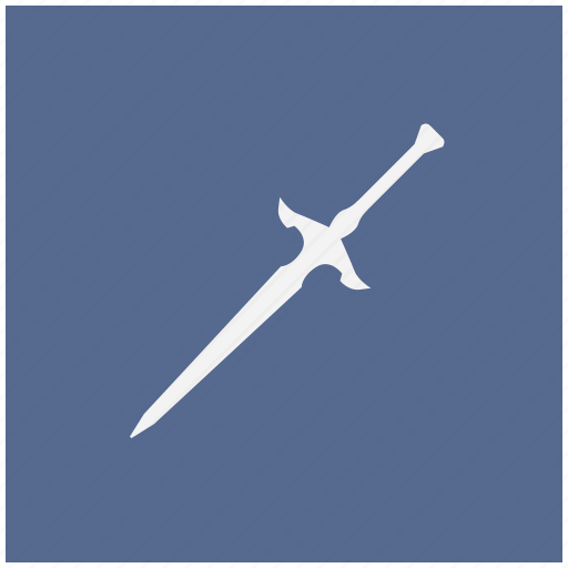 blade, blue, knife, square, sword, weapon icon