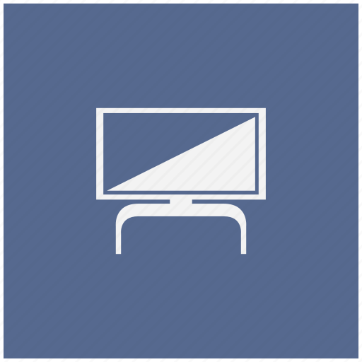 blue, modern, plazma, set, square, tv icon