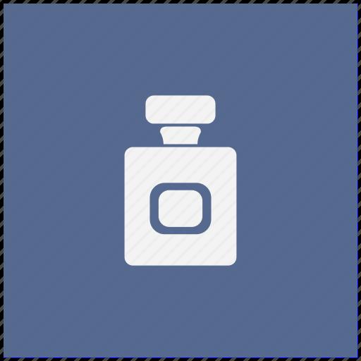 aroma, blue, bottle, parfume, square icon