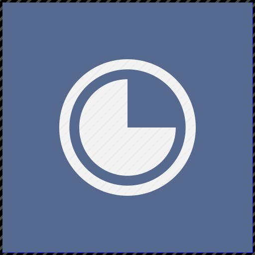 blue, chart, economic, part, square icon