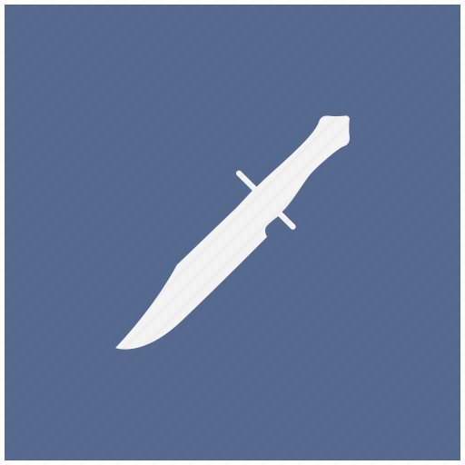 blade, blue, knife, rembo, square icon