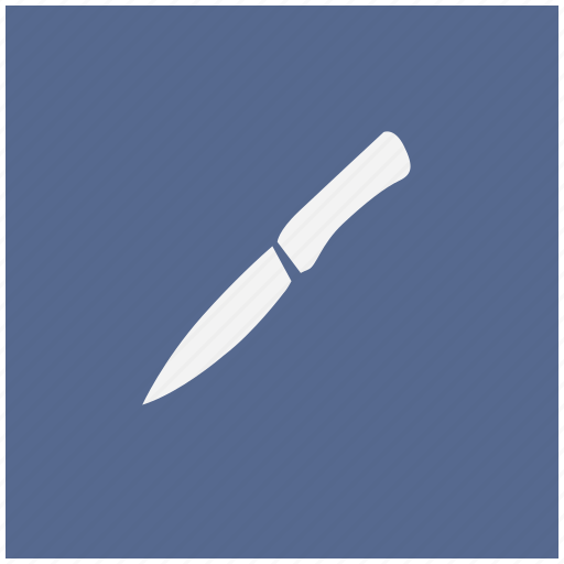 blue, kitchen, knife, salat, square icon