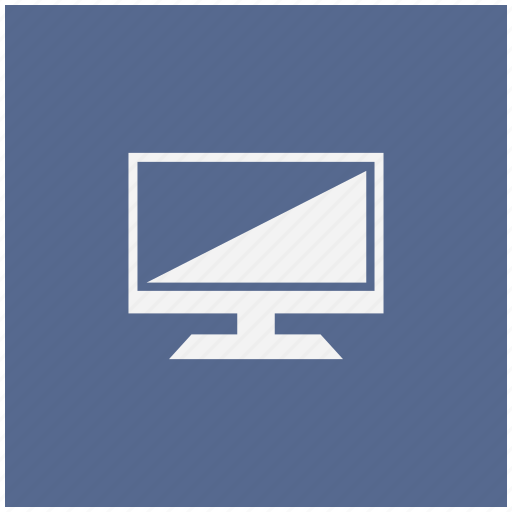 blue, display, screen, set, square, tv icon