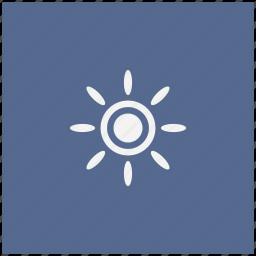 blue, brightness, contrast, flash, square, sun icon