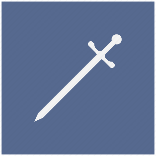blade, blue, square, sword, weapon icon