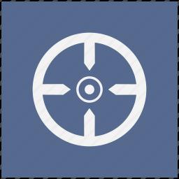 aim, blue, shoot, square, target icon