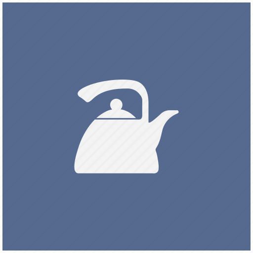 blue, dishes, kitchen, pot, square, tea icon