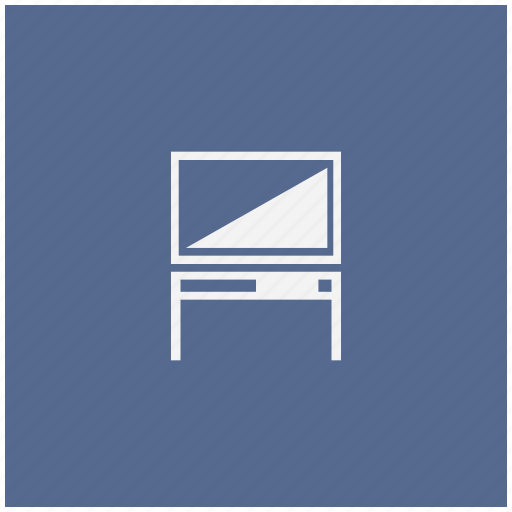 blue, monitor, plazma, set, square, table, tv icon