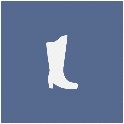 blue, boots, lady, shoe, square, woman icon