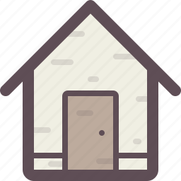building, estate, home, house, hut, office icon
