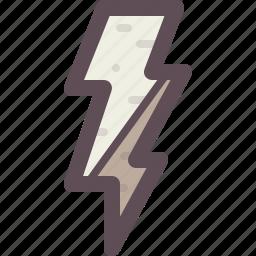 alert, danger, electricity, forecast, lightning icon
