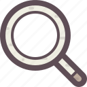 magnifier, magnify, search, web, website icon
