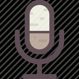communication, media, microphone, sound, speaker icon