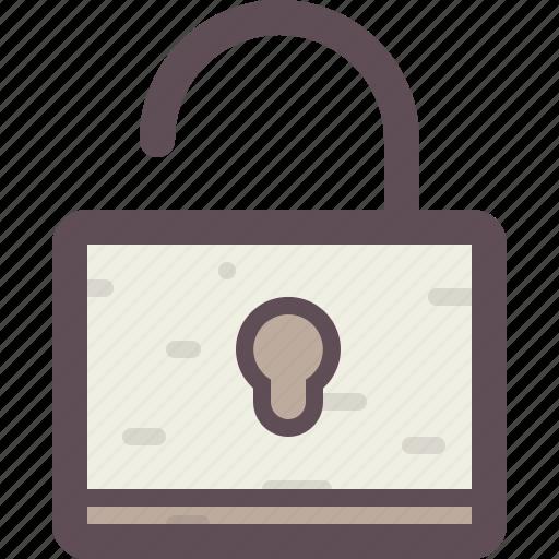 lock, password, protection, security, unlocked icon