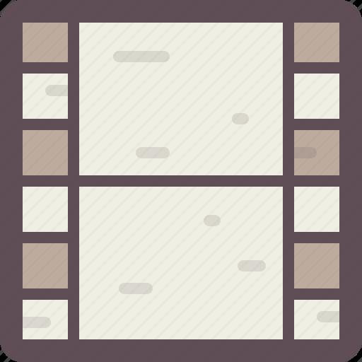 ., film strip, media, movie, multimedia, video icon