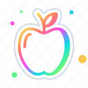 apple, food, fruit, gastronomy, healthy icon