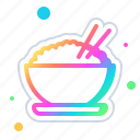 of, rice, bowl, food, cooking, eat, kitchen icon