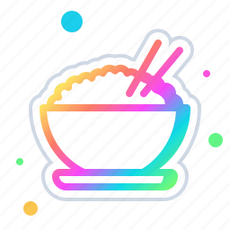 bowl, cooking, eat, food, kitchen, of, rice icon
