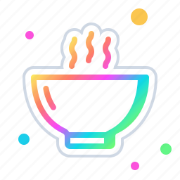 bowl, cooking, kitchen, meal, of, soup icon