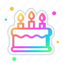 bakery, birthday, cake, dessert, food, sweet icon