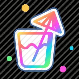 alcohol, beverage, drink, umbrella, with icon
