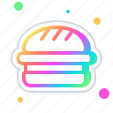 hamburger, junk, sandwich, food, cheeseburger, burger, breakfast icon